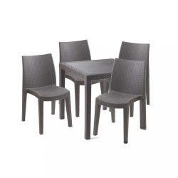 Kinglady 4+1 kerti bútor garnitúra szett