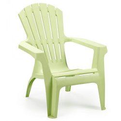 DOLOMITI döntött támlás fotel világos zöld