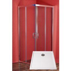Smaragd szögletes zuhanykabin víztiszta üveggel, önött márvány zuhanytálcával