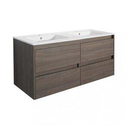 Porto 120 alsó fürdőszoba bútor mosdóval rauna szil színben