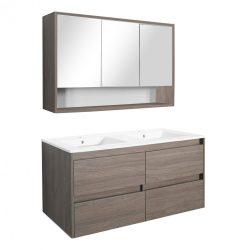 Porto 120 komplett fürdőszoba bútor rauna szil színben
