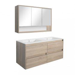 Porto 120 komplett fürdőszoba bútor sonoma tölgy színben