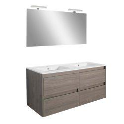 Porto Prime 120 komplett fürdőszoba bútor rauna szil színben