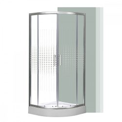 Spirit Mátrix 80x80 cm íves zuhanykabin zuhanytálcával