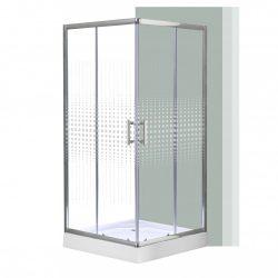 Spirit Mátrix 90x90 cm szögletes zuhanykabin, zuhanytálcával