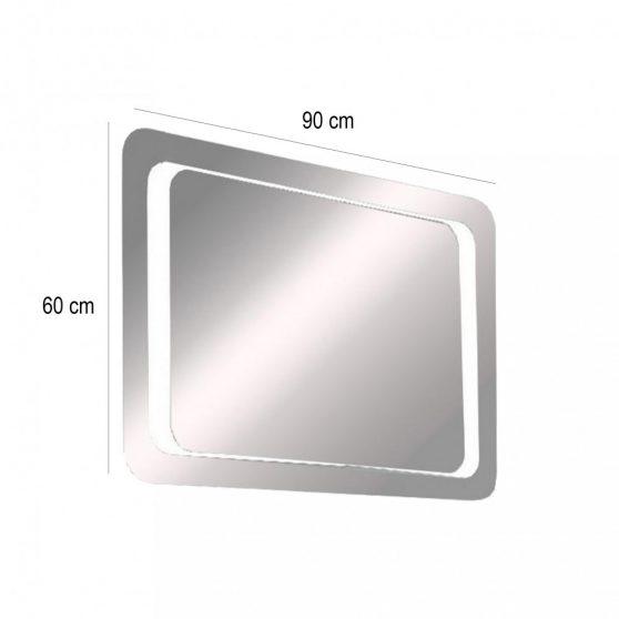 Bolzano LED tükör beépített trafóval 90X60 cm (szögletes)