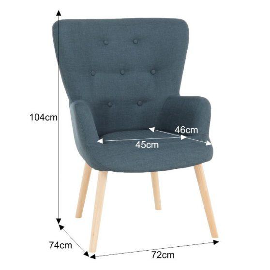Modern fotel, szürkés-zöld, BRANDO