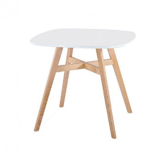 DEJAN NEW Étkezőasztal, színek : fehér - természetes fa.