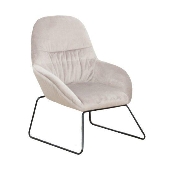 Dizájn fotel, szürke-fekete fém, MARTEL