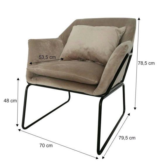 Dizájn fotel, szürke-fekete, KADAR