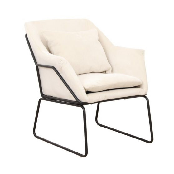 Dizájn fotel, bézs-fekete, KADAR