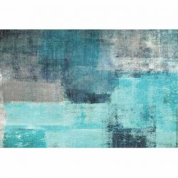 Szőnyeg, kék-szürke, 80x150, ESMARINA tip 2