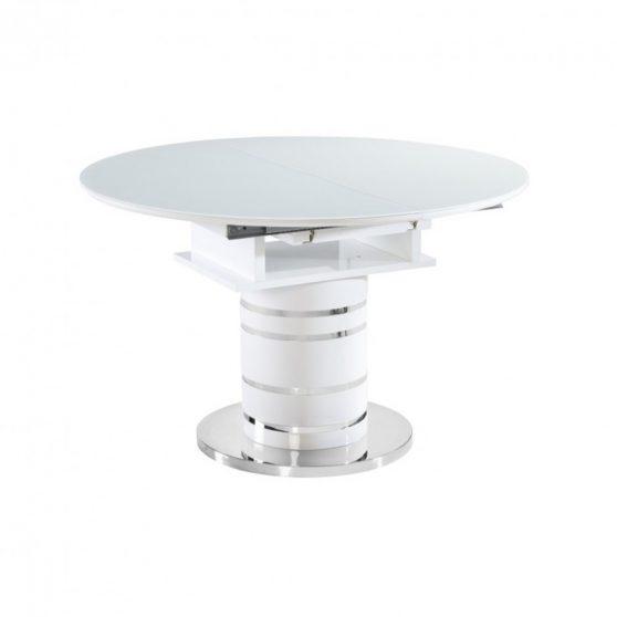 Étkezőasztal kinyitható, fehér magas fény HG, ZAMON