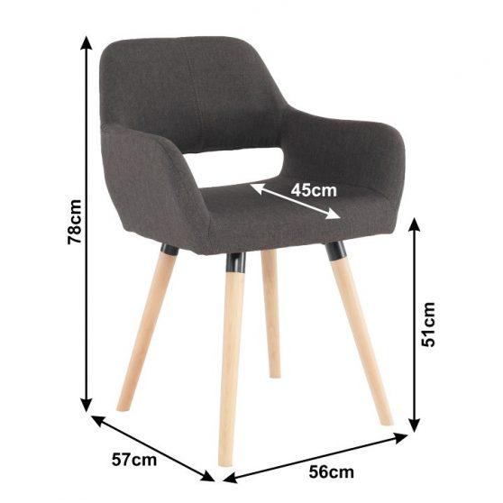 Dizájn fotel, sötétbarna-bükk, GODRIC
