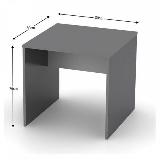 RIOMA TYP 17 Íróasztal, grafit-fehér