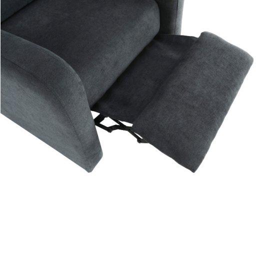 Relaxáló fotel, szürke, TURNER