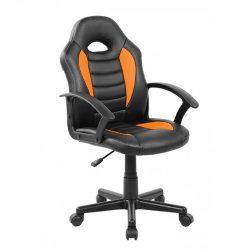 MADAN Irodai szék, műbőr fekete-narancssárga