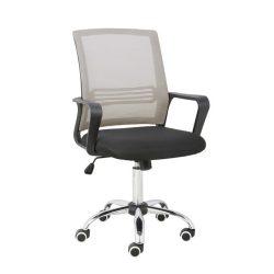 APOLO Irodai szék, hálószövet szürke barna-szövet fekete