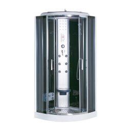 Vital Black 80x80 cm íves hidromasszázs zuhanykabin