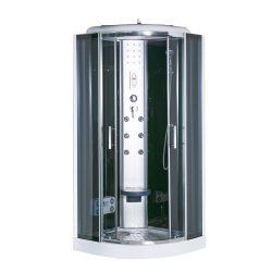 Vital Black 90x90 cm íves hidromasszázs zuhanykabin