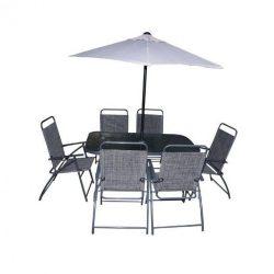 Verona kerti bútor szett szürke 6+1