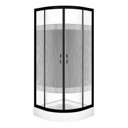 Xenia Duo Black 80 Íves zuhanykabin zuhanytálcával