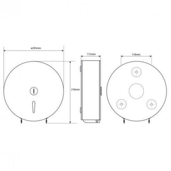 HOTEL PROGRAM Jumbo-roll WC papíradagoló, inox, 21 cm