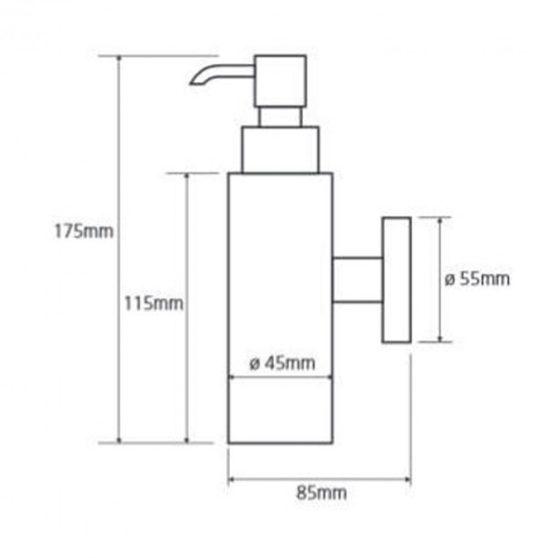 OMEGA szappanadagoló, 180 ml