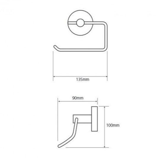 OMEGA ECONOMY WC papírtartó, króm, 95 mm