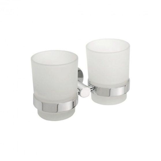 OMEGA dupla pohártartó, tejüveg